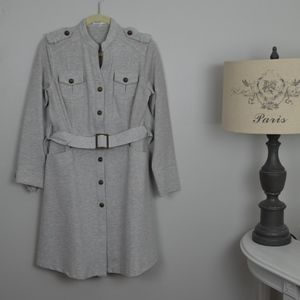 Vintage long jacket/coat or thick dress with belt